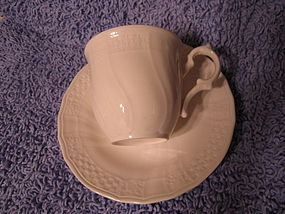 Mikasa Renaissance White Cup and Saucer
