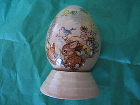 Porcelain Bunny Rabbit Egg