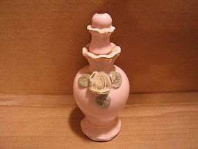 Vintage Pink Porcelain Scent Bottle