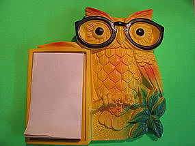 Miller Studio Owl Note Holder