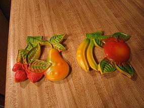 Vintage Hanging Fruit Plaques