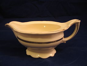 Edwin Knowles Ivory Gold Trim Creamer