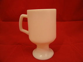 Milk Glass Pedestal Mug