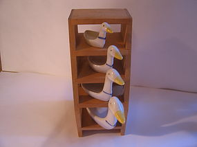 Geese Measuring Spoon Stand or Shelf