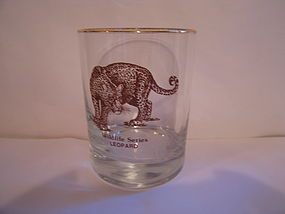 Wildlife Series Leopard Glass