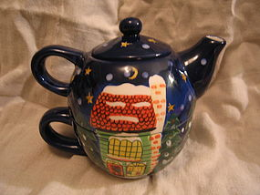 Barnies Village Teapot Set