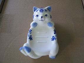 Delft Cat Soap Dish
