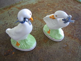 White Ducks Figurines