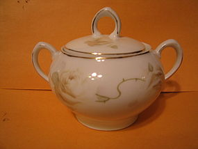 Z S and Co. Tan Rose Sugar Bowl