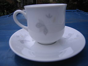EPIAG DF Carlsbad Gray Tan Cup and Saucer