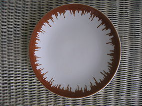 Sterling Lamberton Brown Rim Plate