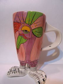 Clayworks Blue Sky Bird Mug