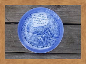 Blue Flow Shepherd of the Hills Plate