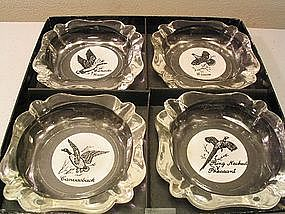 Federal Glass Sportsman Ashtrays
