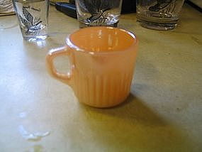 Fire King Peach Lustre Royal Demitasse Cup