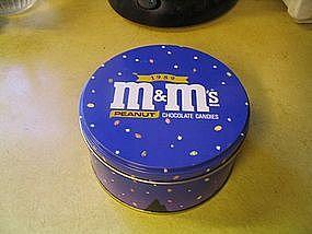 M & M's Peanut 1989 Tin