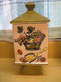 Vintage Fruit Canister