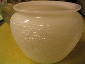 Milk Glass Rose Bowl