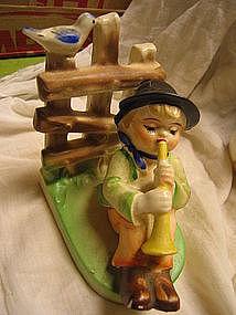 Boy and Horn Figurine