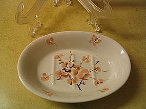 Soap Dish Flowers & Butterflies