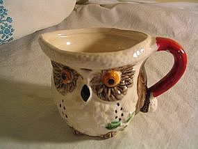Christmas Owl Pitcher