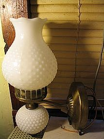 Milk Glass Wall Lamp