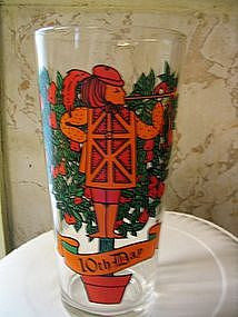 12 Days of Christmas Glass 10th Day
