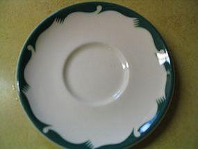 McNicol Green Crest Saucer
