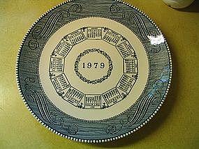 1979 Calendar Plate