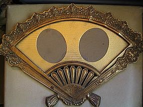 Fan Shape Brass Frame