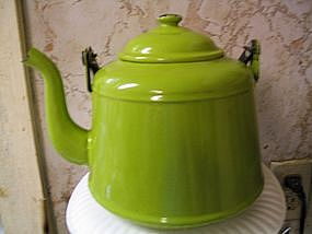 Green Enamel Kettle