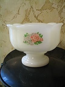 Avon Milk Glass Pedestal Bowl