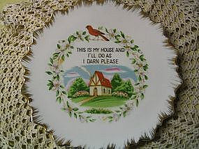 Plate - This Is My House & I'll Do As I Darn Please