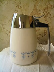 Corelle Snowflake Blue Syrup Pitcher
