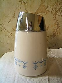 Corelle Snowflake Blue Sugar Dispenser