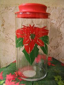 Indiana Glass Christmas Canister