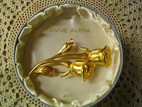 Anne Klein Rose Pin