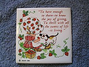 Strawberry Girl Trivet
