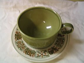 Taylor Smith Taylor Provincial Green Cup & Saucer