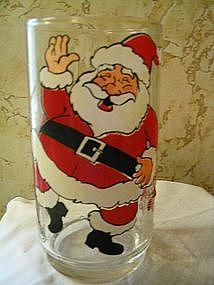Santa & Elves Christmas Glass