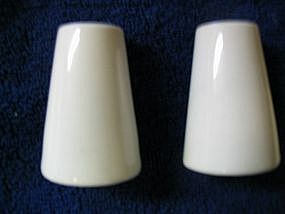 Fairwood White Salt and Pepper Shakers
