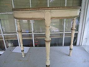 Vintage Ivory Half Table