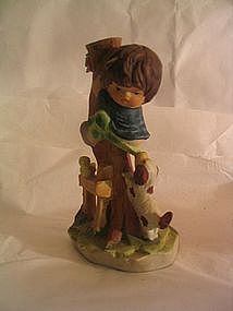 Enesco Little Boy and Dog Figurine
