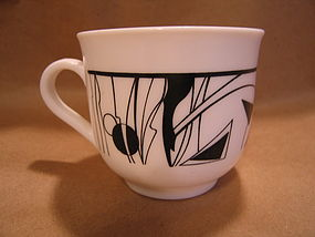 Arcopal Black & White Cup & Saucer