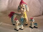 Poodle Family Figurine