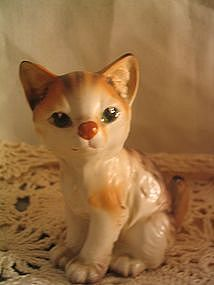 Orange Striped Cat Figurine