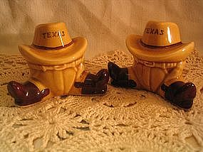 Texas Cowboy Salt & Pepper Shakers