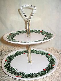 Lefton Holly & Berry Tray