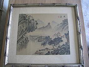 Oriental Silk Landscape Print