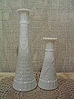 Anchor Hocking Milk Glass 1000 Lines Vase